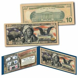 Americana Images of Historical U.S. Currency $10 Bill * BISON - INDIAN - EAGLE *