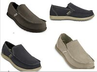 Men's CROCS Original  Santa Cruz  KHAKI , GRAY,  BLACK, BLUE Canvas  Shoes