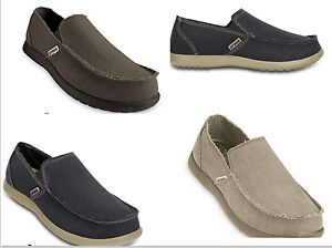 Men's CROCS Original  Santa Cruz  KHAKI , NAVY BLUE Canvas  Shoes