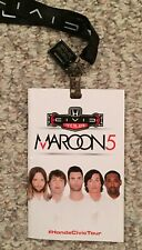 Maroon 5 Adam Levine Honda Civic Tour Lanyard and Booklet