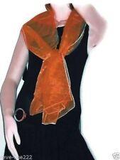 Etole/foulard/chale en organza, idéal avec robe de soirée ORANGE