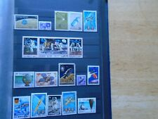 Space Travel Worldwide. Private collection of 18 different Large Stamps.