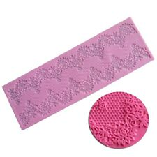 Lace Silicone Mold Sugarcraft Fondant Mat Cake Decorating Baking Mould Tool New
