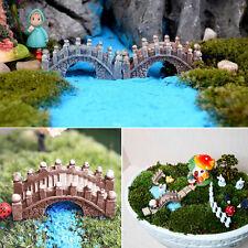 2Pcs Miniature Garten Terrarium Brücken Figur Statue Ausgangsdekor