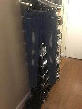 2 Pairs Fashion Nova Womens Jeans Skinny Distressed Size 11