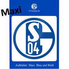 Schalke 04 Maxi Aufkleber blau weiß 20 Cm