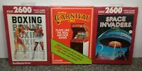 LOT OF THREE GAMES FOR ATARI 2600/7800 BRAND NEW VINTAGE RARE NOS OPEN BOX #14