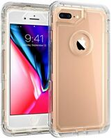 For IPhone 8 Plus / 7 Plus Heavy Duty Protective Clear Case fit Otterbox Clip