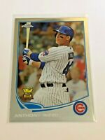 2013 Topps Chrome Baseball Base Card - Anthony Rizzo - Chicago Cubs