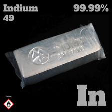 Indium Barren 99,99% - 1000 g ingot metal / Metall Indiumbarren 1 kg