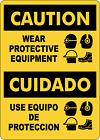 OSHA CAUTION: WEAR CITE PROTECTIVE EQUIPMENT | Adhesive Vinyl Sign Decal