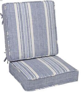 2pc Deep Seat Cushion Blue Calisto Striped Cushion