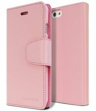 Leather Wallet Card Pocket Flip Book Case [Tempered Glass] For iPhone Galaxy LG
