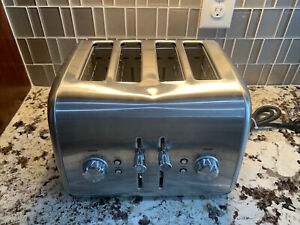 4 Slice Wide Slot Toaster with Crumb Tray 5 Settings - 1800W KitchenAid KMT4115