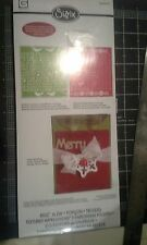 Sizzix Ellison Bigz XL die and embossing folder set - Card A2 Holidays pattern