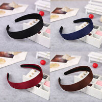 Women Girls Plastic Headband Hair Band Accessory Satin Headwear Wholesale Gift
