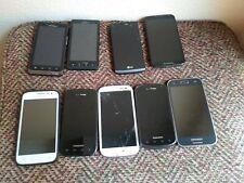 Lot of 9 Smartphones - Samsung, Lg, Motorola - Selling As Is