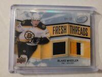 2008-09 Upper Deck Ice Fresh Threads dual Patch/Jersey /25 Blake Wheeler Rookie!