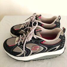 Skechers Shape Ups Women's 11806 Sneaker  Gray Blue Pink Size 8.5 Walking Toning