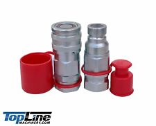 """TL50 1"""" NPT Thread 3/4"""" body Flat Face High Flow Quick Connect Coupler"""