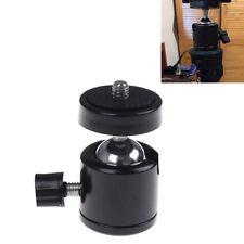 "360°Swivel mini ball head bracket holder 1/4"" screw mount*tripod DSLR camera MO"
