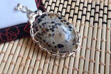Leopard Skin Jasper Stone .925 Silver Handmade Jewelry Pendant  SS60