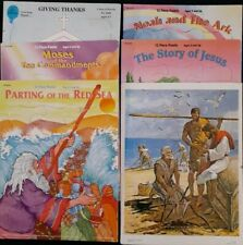Lot Of 6 Vintage Frame Tray Puzzles ~ JESUS & Fishermen •RED SEA•  MOSES ......