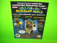 Gottlieb Super Mario Bros Mushroom World 1992 Original NOS Pinball Machine Flyer