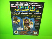Gottlieb Super Mario Bros Mushroom World 1992 Original NOS Pinball Machine Flyer