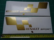 2x Renault Sport Large Car Vinyl Decals Stickers Fits Clio Williams Megane GOLD