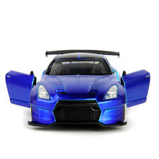 1/32 Blue Racing Car Toys 2009 Brian's NISSAN GT-R R35 ABS Vehicle Model Collect