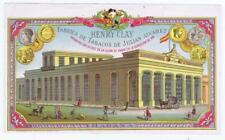 Henry Clay Julian Alvarez HabanaPrinted Barcelona original inner cigar box label