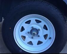 14 HQ Caravan Sunraysia Rim Tyre Wheel Steel Trailer 185R14LT 5 Stud 1731421