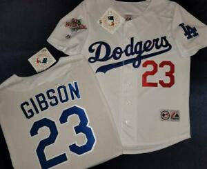 1624 Majestic Los Angeles Dodgers KIRK GIBSON 1988 World Series Baseball Jersey