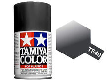 Tamiya 85040. spray Ts-40. pintura esmalte color negro metalizado