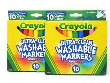 Crayola Markers Ultra Clean Broad Line Classic Colors Washable 2 Count 10 Each