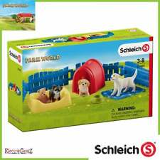 Schleich Farm World Puppy Pen with Three Figures and Accessories