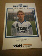 Carte Postale KAA Gent Dirk Vangronsveld