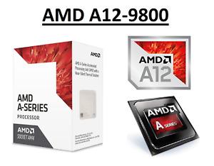 AMD A12-9800 Quad Core Processor 3.8 - 4.2 GHz, Socket AM4, 65W CPU