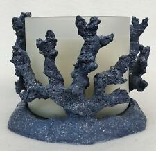 Bath & AndBody Works SHIMMERING BLUE CORAL Large MULTI WICK CANDLE HOLDER 3 WICK