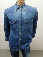 Camicia LEE uomo taglia size M chemise t-shirt maglia maglietta cotone  P 5729