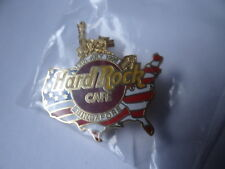 Hard Rock Cafe SINGAPORE 1998 July 4th PIN USA Map with Gold Statue of Liberty