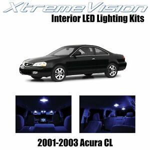 XtremeVision Interior LED Kit for Acura CL 2001-2003 (6 Pieces) Blue White