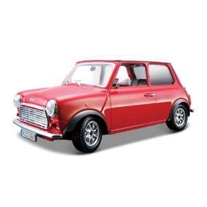 BBURAGO DIE CAST METAL 1969 MINI COOPER CLASSIC MODEL CAR - 18-43206 REPLICA CAR