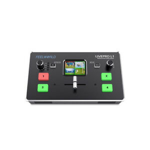 FeelWorld LIVEPRO L1 Multicamera Video Switcher  HDMI Inputs and USB Streaming