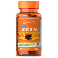Puritan's Lutigold Lutein 20 mg 120 Softgels with Zeaxanthin Supports Eye Health