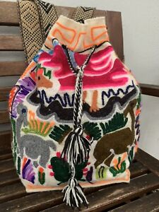 Wayuu Crochet Handmade Handwoven Animal Bookbag