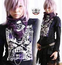 Kera Gothic Punk False 2-layer Top + Purple Furry Neck Scarf SM