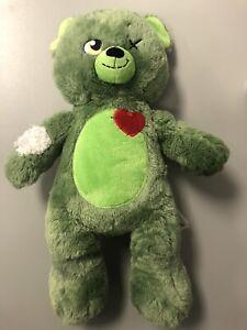 """BAB Build A Bear Zombear Zombie Teddy 16"""" Stuffed Plush Toy Retired 2015"""