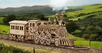 Wooden 3D Puzzle Model Kit Wood Trick Locomotive R17 Mechanical For Adults Gift